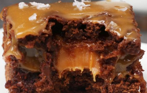 Baking with Kate and Ella: Caramel Brownies