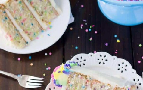Baking with Ella and Kate Confetti cake