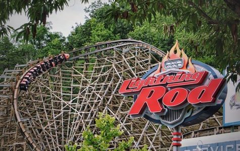 Lightning Rod! A Wooden Coaster at DollyWood in Tennessee