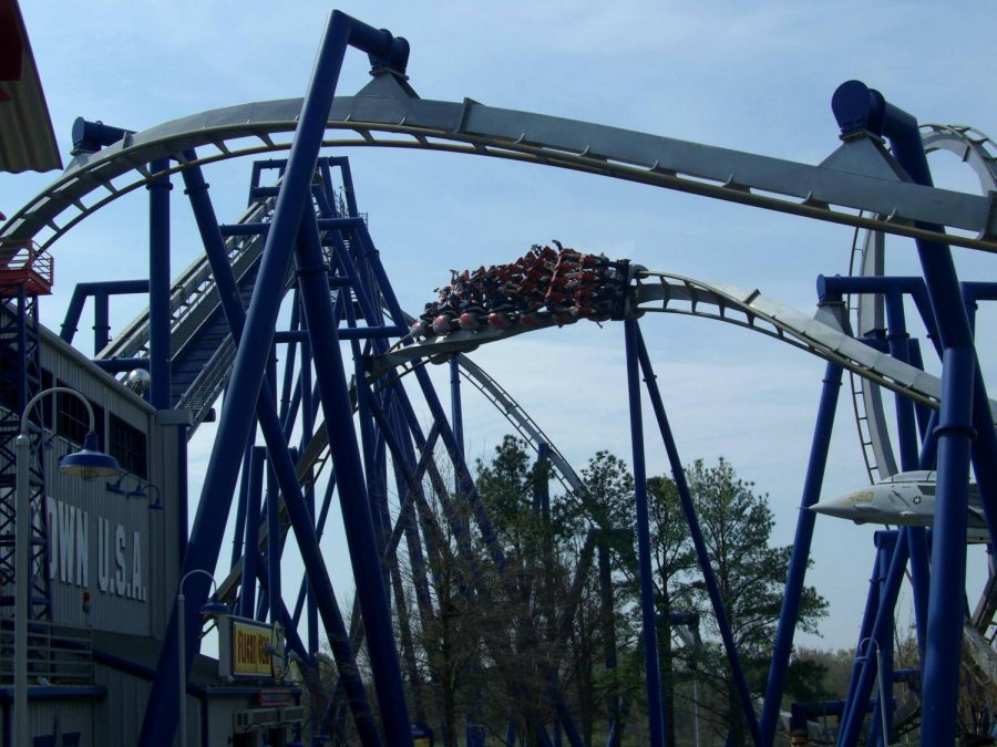 Afterburn: A B&M Invert at Carowinds, at both N. Carolina and South Carolina
