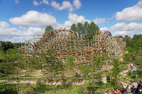 Untamed: An RMC Hybrid conversion of Robin Hood at Walibi Holland at Biddinghuizen, Flevoland, Netherlands.