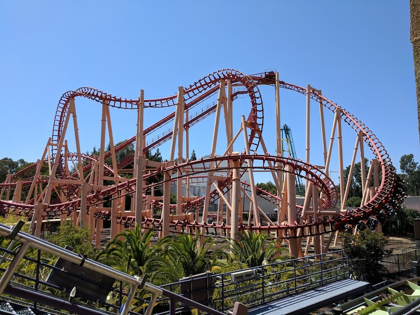 Kong: A bad Vekoma SLC at Six Flags Discovery Kingdom, Vallejo, CA.