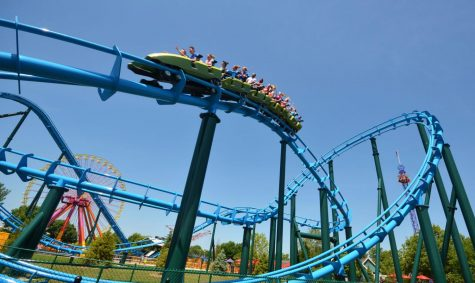 Lightning Run: A Chance Rides Hyper GT-X at Kentucky Kingdom at Louisville, Kentuky.